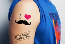 Movember tattoos / Movember temporary tattoos