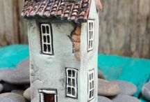 miniature old houses