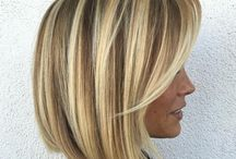 Med hair style&color