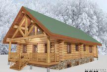 1527 sq/ft-Sheep creek / This 1527 sq/ft log cabin has been built in Alaska three years ago. Customer was excited to share many photos of his finished home