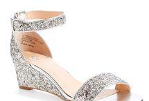 silver shoes wedding bridesmaid