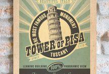 """L'Italia e le sue bellissime Città d'Arte   VIMAGES TARGHE VINTAGE / Immagini dal sapore """"rétro"""", di un tempo andato, ideali elementi di arredo, perfette idee regalo e souvenir che celebrano l'Italia.  #vimages #vimages.it #targhe #vintage #targhevintage #italia #italiavintage"""