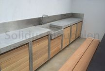 Zahradní kuchyně - beton