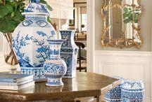 Blue & White Pottery Decor