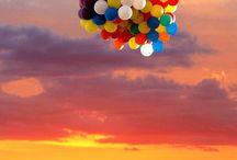 Luftballons fliegen lassen