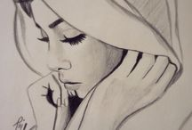 hijab drawing
