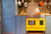 A Playful Shaker Kitchen / With traditional Shaker design at its heart this playful shaker kitchen blends oak, steel and stone with an open minded and highly creative approach resulting in a warm and friendly kitchen that feels like one of the family, totally at home within this old stone house.