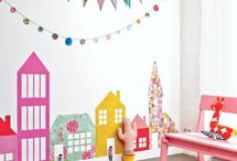 Cool kids spaces / Ideas for the twins playrooms and bedrooms :)