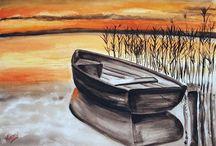 Akvarell tájképek / Landscape with watercolor