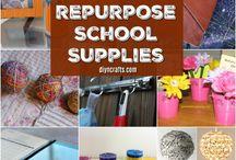 repurpose school supplies