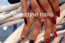 Valentine's nail spa / Acrylic nail design