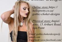 Flyers / Flyers and business cards for Gothic Choker Designs