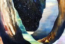 |stars| / Night sky art