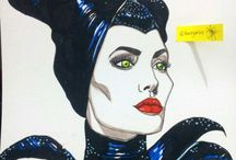 Face Drawing / #artwork #painting #illustration #drawing #disney #maleficient #katyperry #justintimberlake #mileycyrus #artist #celebrity