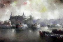 Art Of Watercolor: Orhan Gurel, Türkiye_Haydarpaşa