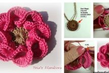 3D crochet flowers