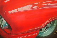 J'AIME FAIRLANE / VOITURE/Ford FAIRLANE /course /dragster/voiture/ PEINTURE Huile sur toile  70x50