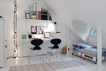 Loft office  / Large Open plan loft conversion with office and guest bed room