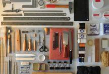 Tools / Equipamentos para encadernação e cartonagem.