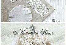 flor de tecido vintage