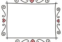 Frames for DIY cards / png frames for DIY cards or others