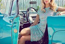 car & woman