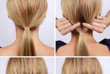 oppsat hår