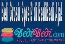 Beli Grosir Sprei di BediBedi Aja / Mau Beli Grosir Sprei dan Badcover yang sesuai dengan keinginan Anda? Pastikan membelinya di BediBedi Aja! Aneka motif, size, atau kombinasi bisa direquest.