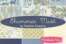 "Mist Shimmer by Timeless Treasures / ""Mist Shimmer"" by Chong-a Hwang for Timeless Treasures Fabrics"