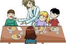 MONITOR/A DE COMEDOR ESCOLAR. / Enlaces de interés para monitor@s de comedor escolar.  Links informativos, reflexivos e ideas para trabajar con l@s niñ@s en el periodo que permanecen en el comedor escolar.