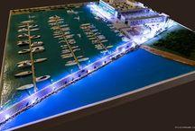 Construtora Viseu – Maquete física Marina de Itajaí – escala 1:200