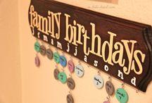 Creative idea / Birth dates