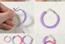 colorful silk thread jewellery