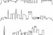 Städte Umrandung