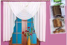 Kolorowe firanki / Niepowtarzalne kroje, stylowe firanki w modnych kolorach dostępne w sklepie Kasandra.