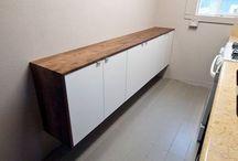 Ikea Besta (temporary board)