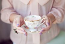 Tea time / Tea + scones, with a pinch of lace and pink, makes for the perfect tea time.