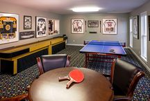Recreation Basement / A fabulous finished basement in St. Louis, MO dedicated solely to recreation. From pool to ping pong to foosball to a movie theater, it's nothing but fun!