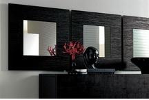 Modern Square Wenge Or Walnut Wood Veneer Frame Lubar Wall Mirror