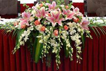Floristry Wedding arrangements - Häät asetelmat