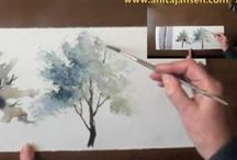 Trees water colour!!