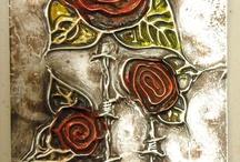 pewter flowers