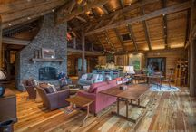 Woodhaven / This haven is a spectacular farmhouse in the Appalachian region.  Revient Reclaimed Wood supplied all of the wooden materials including the flooring, wall paneling, timbers, ceiling, star treads, exterior barn wood, cabinet faces and more..