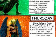 Superhero workout.