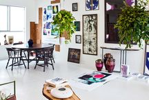 Interiors / Rooms and design inspiration. Modern, eclectic, a little vintage, a little rustic.