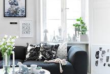 Black'n' white livingroom