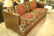 fabric and leather furniture