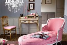 """GIRL INSPIRED / Every """"girl"""" needs a space to live inspired. Check out these girlie chic inspiration rooms. / by Shenay Shumake, Live Inspired."""