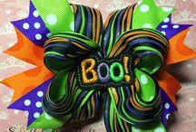 Halloween hair bow