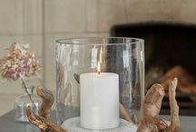 svíčky s dřevem